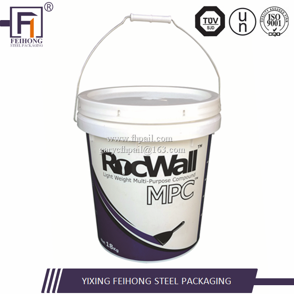 custom printed buckets plastic 5,10,15,20 liter bucket container