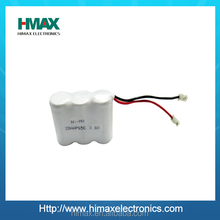 OEM/ODM Shenzhen high quality rechargeable battery nimh 2/3aa 3.6v 650mah