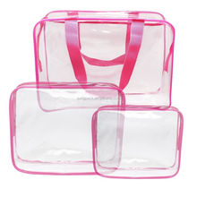 Promotional Non Woven Handles PVC Shopping Bag Beautiful Pink Lady Handbag Small Tote Candy Jelly Bag