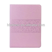 New Design Flower Print Flip PU Leather Pouch Case For Apple iPad Air