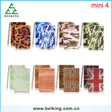 Painted Printing Case For iPad Mini 4, Mini Tablet Leather Cover For iPad Mini 4 Folding Case