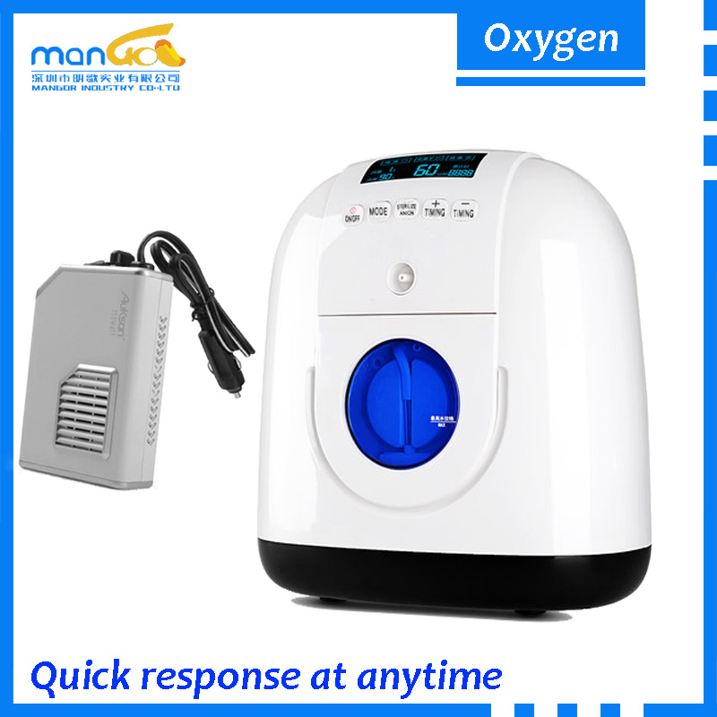 Adjustable 1L 2L 3L 4L 5L 90% Purity 220V used remote control electric oxygen concentrator portable rechargable price