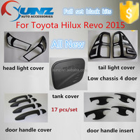 ABS plastic painted full set black kits for New toyota hilux revo vigo 2015 top selling car decoration accessories