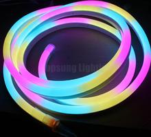 pretty digital led neon strips 24v 5050 pixel <strong>RGB</strong> outdoor Landscape Lighting ultra slim 11x18mm