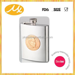 New Style Most Popular Stainless Steel Cigar Hip Flask