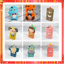 3D animal shape silicone handphone case