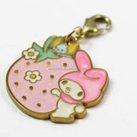 promotional custom metal cartoon plating gold keychain ring