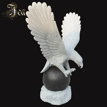 Hand carved outdoor eagle Marble Stone sculpture animal statue