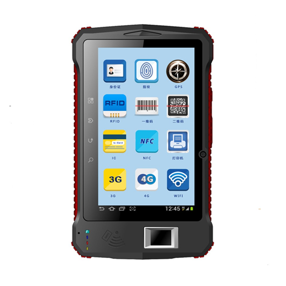 Hot sale IP65 2d Barcode Scanner Fingerprint Reader with 7 inch display