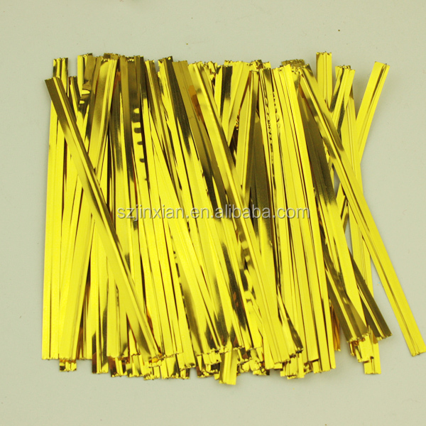 Promotion Price metallic twist tie Magic Tape for candy cello bags
