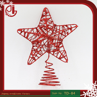 Metal Wire Standing Christmas Tree Top Star