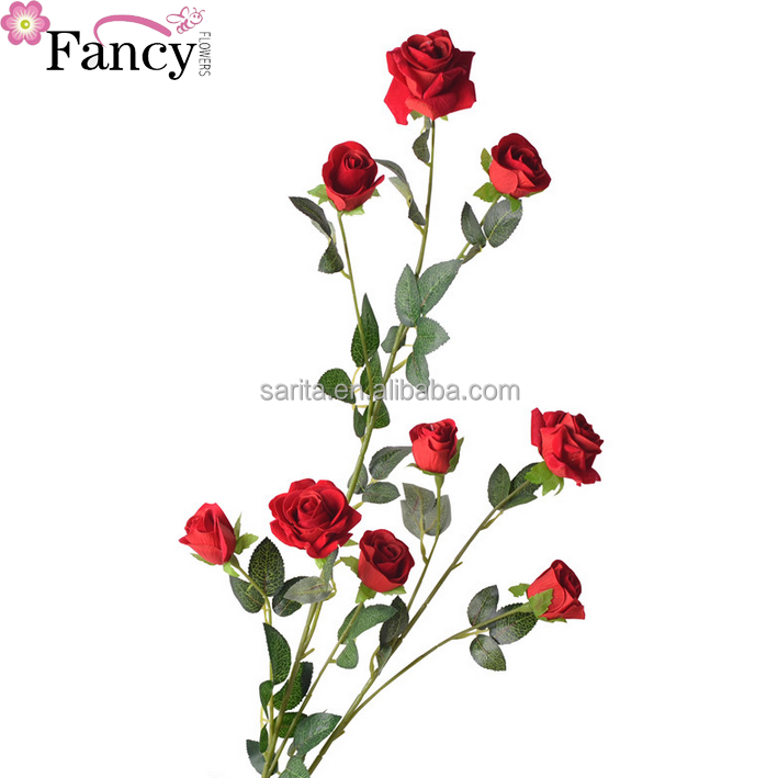 Romantic high stick landing big rose fake flower creative wedding living room decorations simulation bouquet home