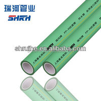 Green ppr water pipe, pn12.5 ppr pipe with WRAS Certification