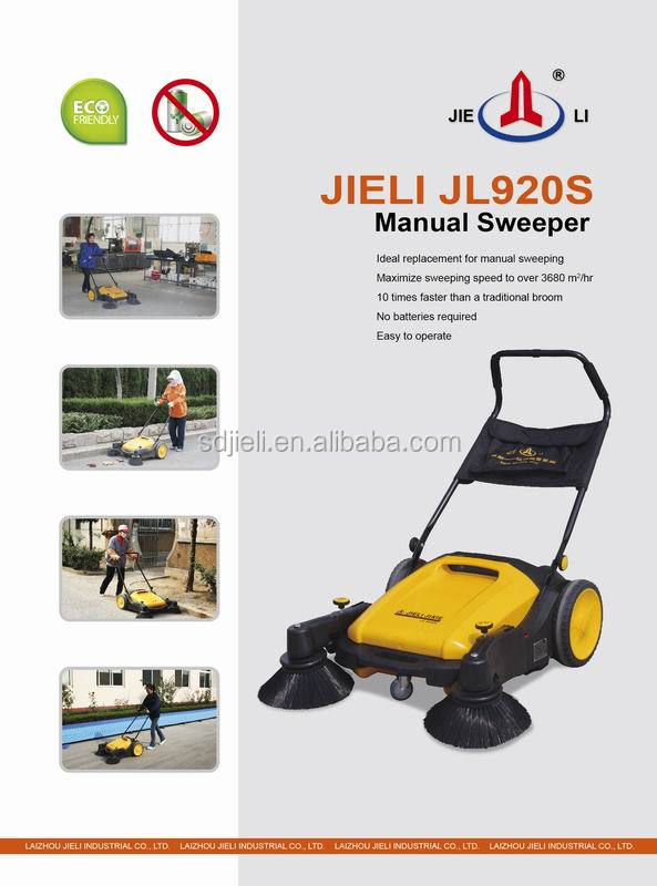 No powered outdoor Hand Push floor sweeper