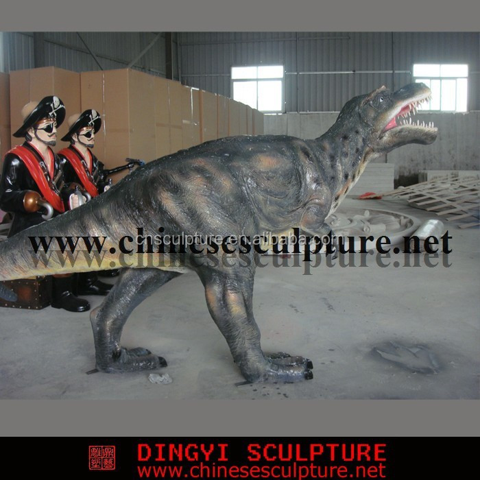 Amusement park dinosaur sculpture