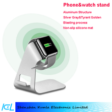 2015 wholesale mobilephone and watch holder, charging aluminum stand for IOS & Android & WP smartphone