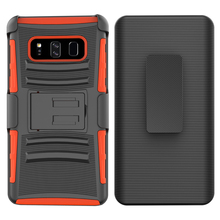 Three-piece shockproof holster mobile cell phone case for Samsung Galaxy Note 8