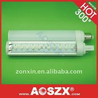 2011 NEWEST 10W G24 LED PL light high power 1000LM DC:12V / 24V LED PL lamp bulb AP481ZX Aluminium alloy+PMMA +48hr test
