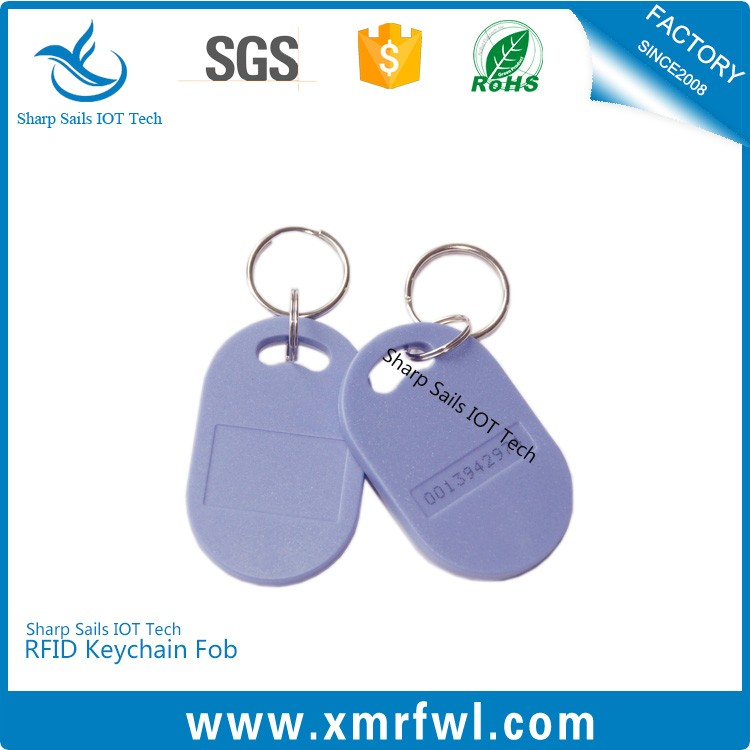 Cheap price waterproof RFID qr code printing smart keyfob card