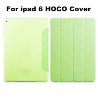 New Arrival HOCO Brand Stylish Ultra Slim Smart Case For iPad 6 Air 2 PU Leather Crystal PC Back Flip 4Fold Cover Protecive