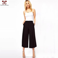 2016 Spring Summer New Fashion Pure Color Loose New Style Capri Lady Pants