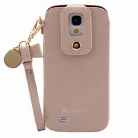 lady's style pouch cover leather case for Samsung Galaxy S4 cell phone case