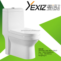 A3110 Iran Market sell good design Siphonic one piece square toilet