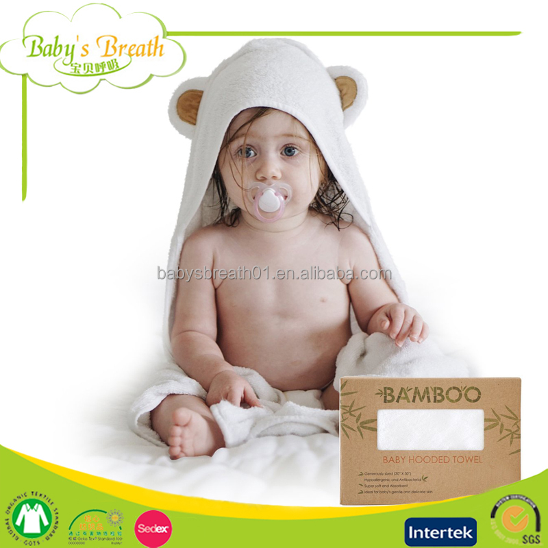 HT09 Oeko-tex Standard 100 Bamboo Hooded Baby Bath Towel
