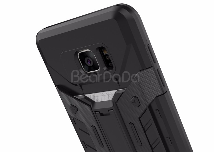 Kickstand card slot back cover phone case for samsung galaxy note 5