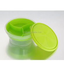 Small Round Container with grid food grade storage container