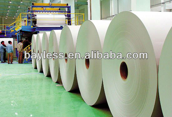 100% wood pulp 55 g in roll newspaper