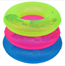 Yiwu Factory Wholesale Fluorescent Inflatable Swim Ring, Float Swimming Ring Aid Tube Protector & Armpit Circle Support
