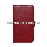 China Manufacture 5Colors Chosen PU Leather Case with Stand for Samsung S4, for Samsung S4 PU Leather Case