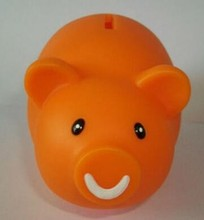 hot sale pig large plastic coin bank,coin factory bank,custom made coin bank