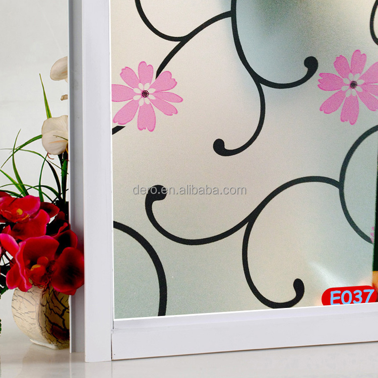 Switchable privacy etched glass decorative window films for home