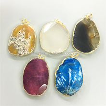 LS-D5565 Wholesale Fashion Slab Agate Pendants