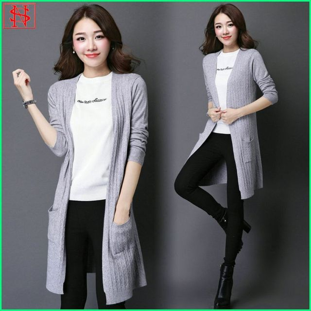 New style fashion women basic long sweater