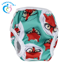 Famicheer Reusable PUL Print Cute OEM Snap Baby Swim Diaper
