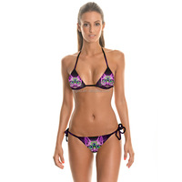 America Design Custom Beach Volleyball Shorts With Sublimated Printing Sexy Photo Triangle Bikinis Swimsuit