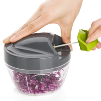 Kitchen gadget sharp blades magic pepper pull chopper fruit and vegetable cutting tool