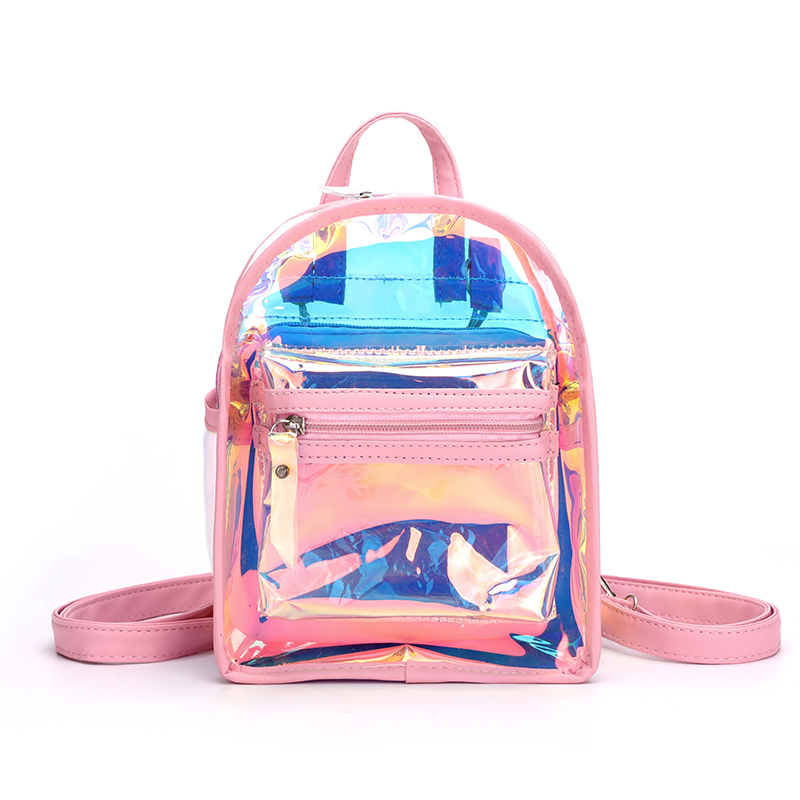 Wholesale candy color laser mini outdoor travelling women's school <strong>backpack</strong>