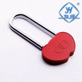 YH1009 Very Cheap Red Solid brass double heart shaped Padlock