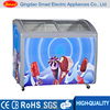 glass door refrigerated showcase supermarket freezer showcase ice cream chest freezer