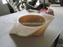 honey onyx marble art sink
