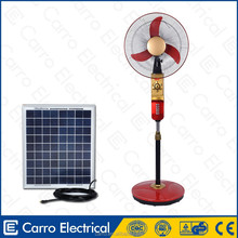 solar powered portable ventilation camping stand dc motor fan