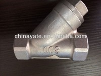 Stainless Steel Y-type check valve Female Threaded Oil Water Strainer,304/316