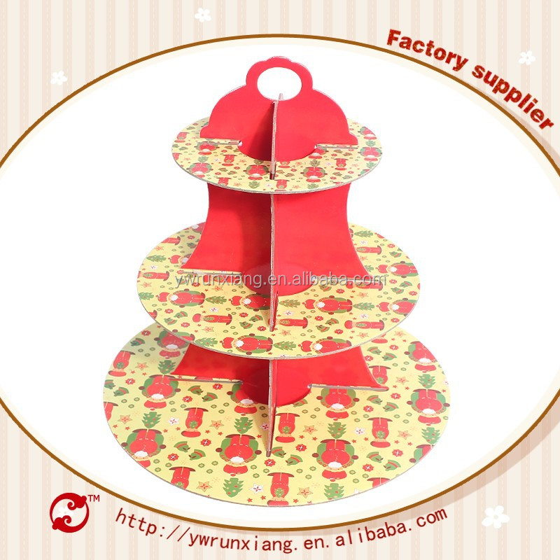 Wholesale party decorations cheap cardboard cupcake stand for department store