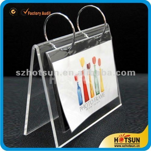 clear Hanging Acrylic Calendar Display Racks
