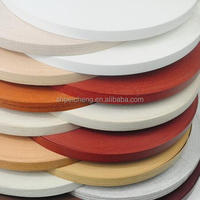 wooden color plastic pvc edge banding tape / pvc edge trim for furniture board