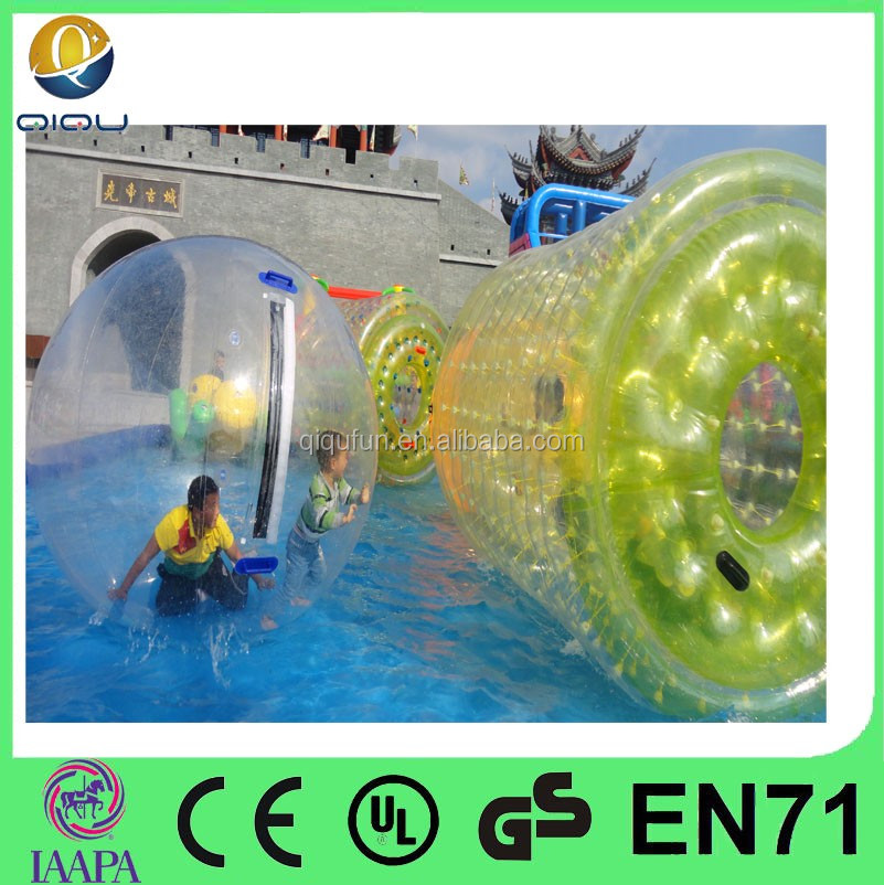 Mixed Color Aqua Inflatable Water Balls Human Water Balls for sale